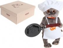 """Мягкая игрушка """"Басик - повар со сковородкой"""", 25 см, Басик и Ко"""