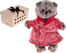 """Мягкая игрушка """"Басик в халате"""", 22 см, Басик и Ко"""