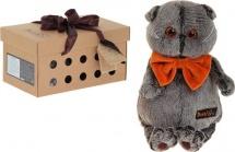 """Мягкая игрушка """"Басик с рыжим бархатным бантом"""", 25 см, Басик и Ко"""