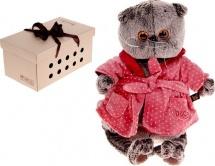 """Мягкая игрушка """"Басик в халате"""", 30 см, Басик и Ко"""