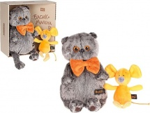 """Мягкая игрушка """"Басик с мышкой Миленой"""", 30 см, Басик и Ко"""