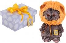 """Мягкая игрушка """"Басик BABY"""" в шапке львёнка, 20 см, Басик и Ко"""