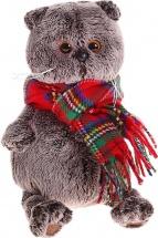 """Мягкая игрушка """"Басик и красный шарф в клеточку"""", 19 см, Басик и Ко"""