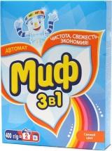 Стиральный порошок Миф 3в1 Свежий цвет 400 г