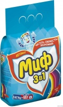Стиральный порошок Миф 3в1 Свежий цвет 2 кг