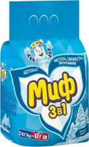 Стиральный порошок Миф  3в1 Морозная свежнсть 2 кг