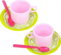 "Набор посуды ""Чайная пара"" - Лайм, 6 деталей, Абрико"