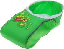 """Сиденье для санок """"Комета"""" меховое с чехлом для ног, зелёный, Ника"""