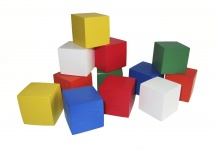"""Кубики РосЭко """"Цветные"""" 12 шт"""