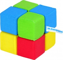 Кубики Мякиши 4 цвета