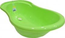 """Ванночка детская """"Ангел"""" со сливом и термометром, 84 см, салатовая, Пластик-Центр"""