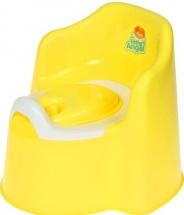 """Горшок детский """"Little king"""" с крышкой, желтый, Пластик-Центр"""