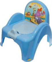 "Горшок - стульчик ""Сафари"", синий, TEGA"
