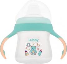Поильник Lubby Малыши и Малышки. Мишка с мягким носиком 150 мл