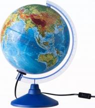 """Глобус """"Физико-политический"""" с подсветкой, d 210мм, классик Евро, Globen"""
