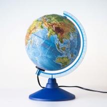 """Глобус """"Физико-политический"""" рельефный, с подсветкой, d 250мм, классик Евро, Globen"""