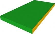 Мат Romana 100х50х10 см, зеленый/желтый