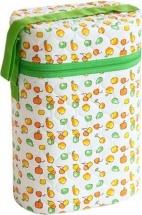 Термоконтейнер для бутылочек двойной (трехслойный), зеленый, Мир детства