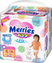 Трусики Merries XL (12-22 кг) 19 шт