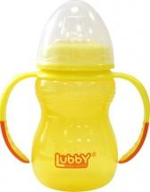 "Поильник Lubby ""Классика"" с мягким носиком 250 мл, желтый"