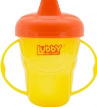 Поильник Lubby Классика. Желтый с твердым носиком 175 мл