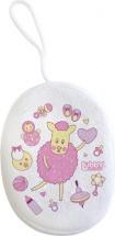 """Мочалка Lubby """"Малыши и Малышки"""" с махрой, розовый (овечка)"""