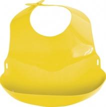 Нагрудник Lubby пластиковый c отворотом, желтый