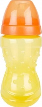 Поильник Lubby Спорт. Желтый с мягким носиком 230 мл