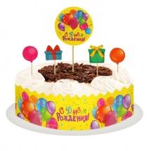 """Набор для украшения торта """"С Днем Рождения. Шарики"""""""