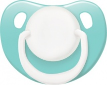 Пустышка Lubby Классика зеленая силикон ортодонтическая с 0 мес