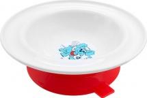 """Тарелка Lubby """"Веселые животные"""" с присоской 300 мл, красный (собачка)"""