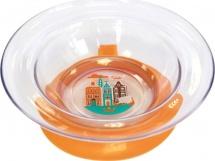 """Тарелка Lubby """"Любимая"""" с присоской 300 мл, оранжевый (Амстердам)"""