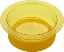 Тарелка на присоске, 5+, желтая, Курносики