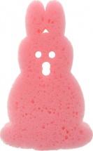 """Губка для купания """"Зверюшки"""", заяц, розовый, Canpol"""