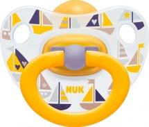 Пустышка Nuk Happy Kids Кораблики латекс ортодонтическая с 0 до 6 мес