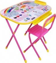 """Набор мебели Дэми №3 Дошколёнок """"Блокнот"""" растущий, розовый"""