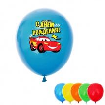 """Воздушные шары Disney """"С днем рождения. Тачки"""" d 12 см 25 шт"""