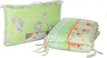 Бортик в кроватку зеленый, Baby Care