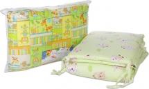 Бортик в кроватку зеленый на замке, Baby Care
