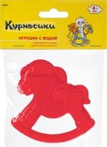 """Прорезыватель с водой Курносики """"Любимые животные-Лошадка"""", красный"""