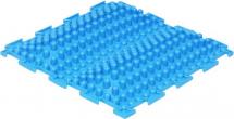 Массажный коврик Орто Волна жесткий 25x25 см, голубой