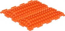Массажный коврик Орто Волна жесткий 25x25 см, оранжевый