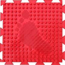 Массажный коврик Орто Елочка мягкий 25x25 см, красный
