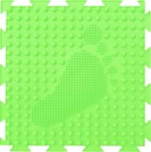 Массажный коврик Орто Елочка мягкий 25x25 см, салатовый