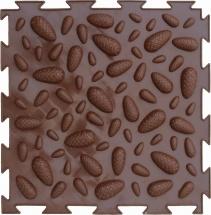 """Массажный коврик Орто """"Шишки"""" мягкий 25x25 см, коричневый"""
