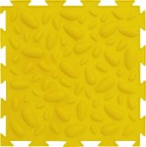 """Массажный коврик Орто """"Шишки"""" мягкий 25x25 см, желтый"""
