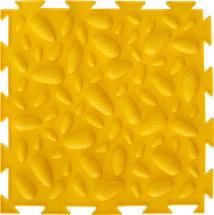 Массажный коврик Орто Шишки мягкий 25x25 см, желтый