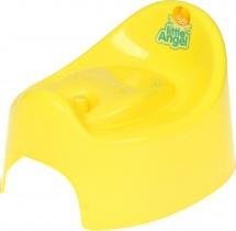 "Горшок детский ""I'm"" с крышкой, желтый, Пластик-Центр"