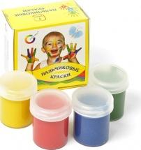 Пальчиковые краски 4 цвета х 40мл