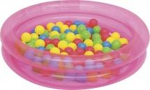 Бассейн BestWay 91х20 розовый / синий см с 50 шарами 51085